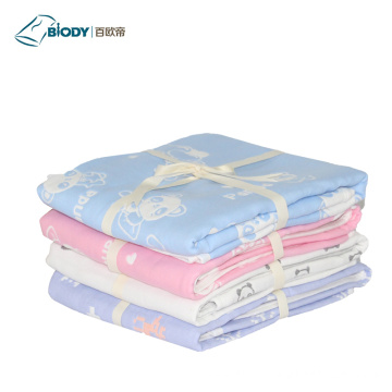 Animal Printed Plain Color Baby Plush Multilayer Blanket